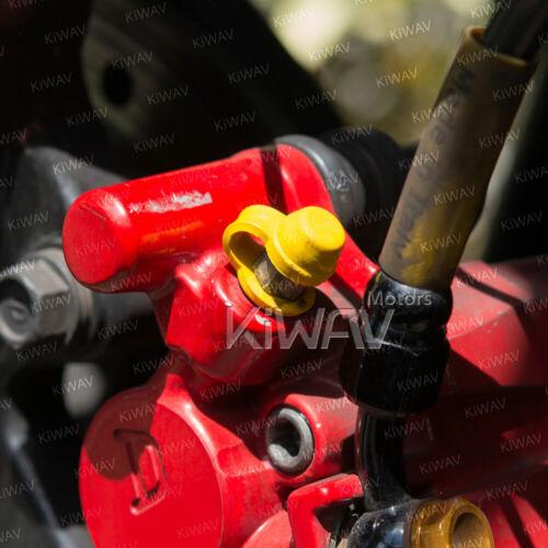 Yellow brake bleeder nipple cap dust cover rubber retainer ring 2pcs