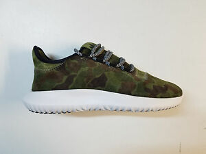 official photos a5d57 a81aa Image is loading ADIDAS-ORIGINALS-TUBULAR-SHADOW-SUEDE-CAMO-VINTAGE-GREEN-
