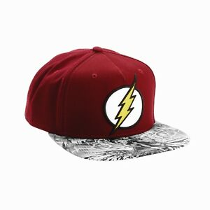 Image is loading The-FLASH-snapback-hat-justice-league-dc-comics- 9298496ceb9