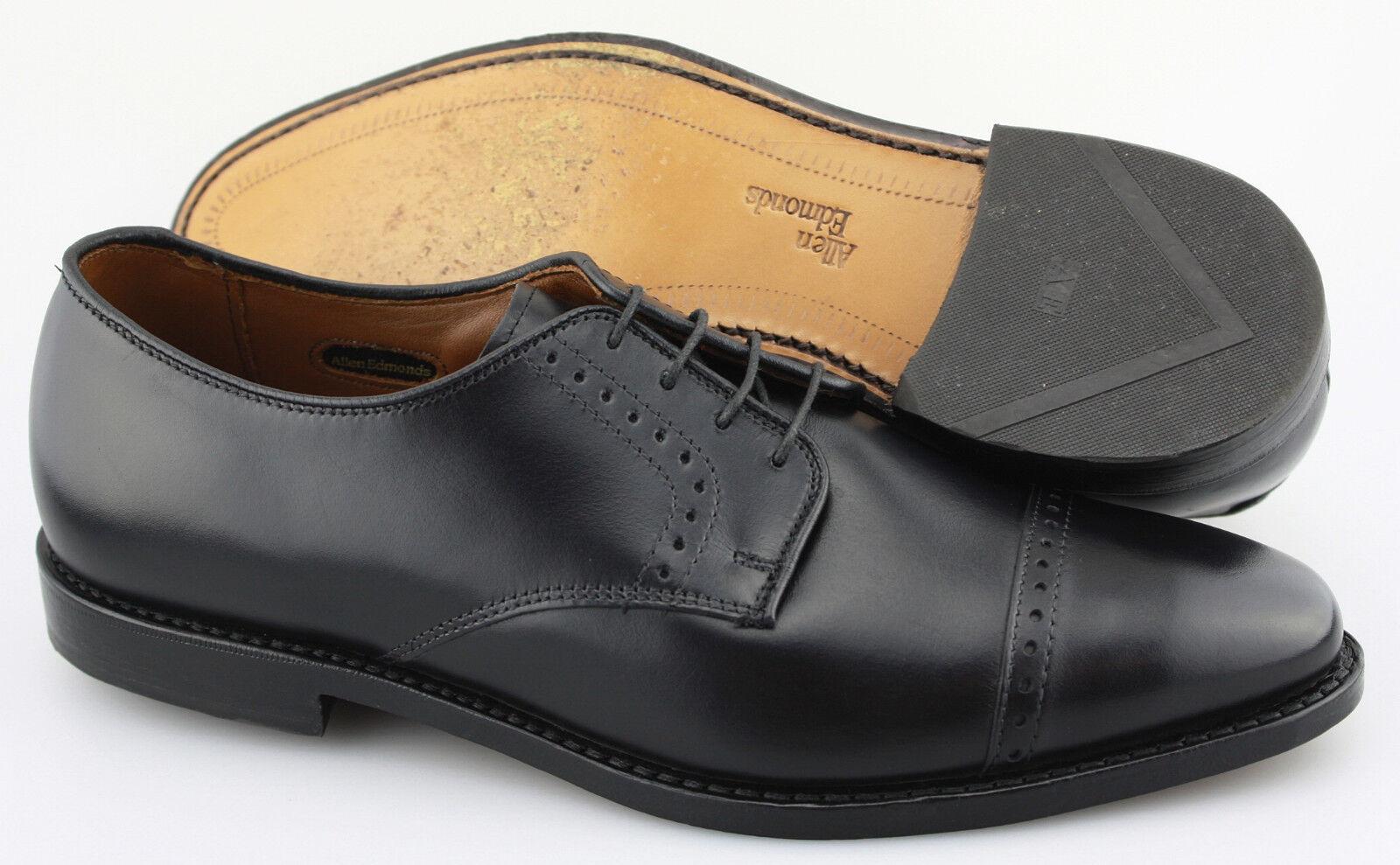 Men's ALLEN EDMONDS 'Clifton' nero Leather Cap Toe Oxfords Dimensione US 10 - D
