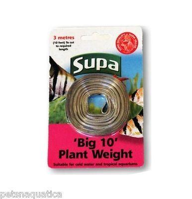 Supa 3m BIG lead (10ft) strip live plant weight bunch sinker aquarium fish tank