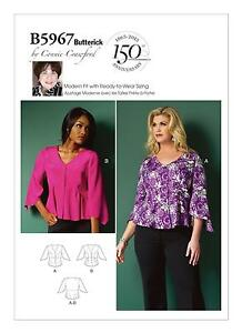 6c7bacb5a1e Image is loading Butterick-Easy-SEWING-PATTERN-B5967-Misses-Womens-Top-