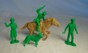 MARX-Recast-ROY-ROGERS-CHARACTER-FIGURES-54MM-w-galloping-horse-Green