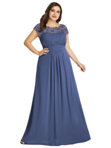 Ever Pretty US Long Lace Dresses Bridesmaid Formal Mother of the Bride Prom Gown