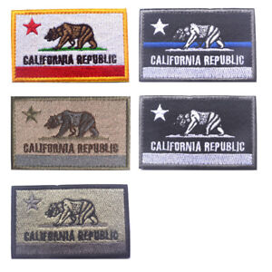 California Flag Badge Embroidered Patch