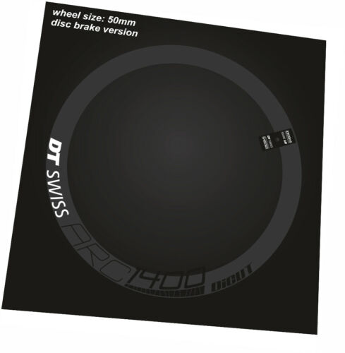 DT SWISS ARC 1400 RIM DECAL SETS for two wheels 50mm disc brake version