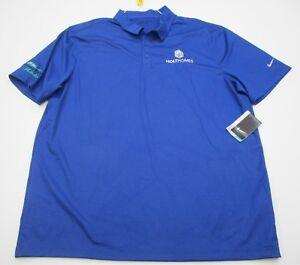 new NIKE  T8642 Men s Size XL Athletic DRI-FIT GOLF HOLTHOMES Blue ... d7fa3d4612df1