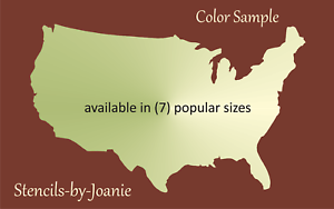 Joanie Stencil Us United States Country Map Outline Free Template - Us-country-map
