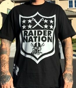 New Member Raider Nation 4 Life Silver /& Black T-Shirt Oakland