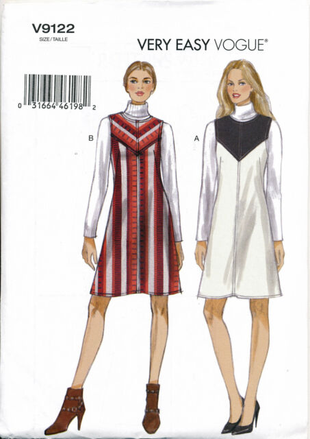 Vogue Sewing Pattern 9122 Misses Sz 4-2 2easy Lined Pinafore Dresses ...