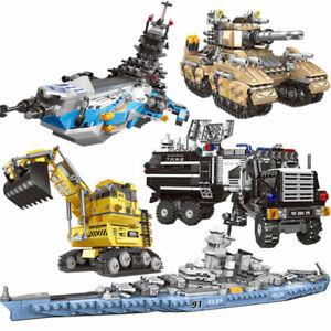 Bausteine-Kriegsschiff-Militaer-Spielzeug-Modell-Geschenk-Blocks-Toys-Gifts-8in1