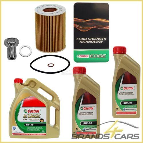 BOSCH ÖLFILTER + 7 L CASTROL EDGE FST 5W30 BMW 3-ER E36 320-328 i E46 320-330 i