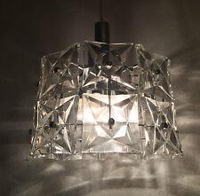 Glas-Prism-Lampe 50er 60er Jahre Crystal Design Kinkeldey Chandelier Luxus 60s