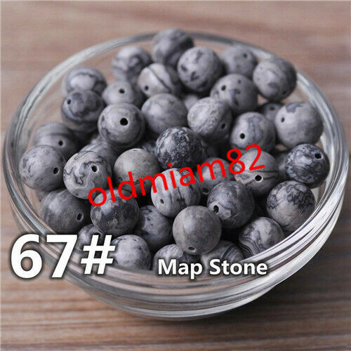 4//6//8//10//12mm Natural Mixed Gemstone Round Ball Loose Bead