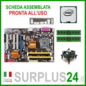 Asus-P5QL-Epu-Intel-Core-2-Quad-Q8200-4GB-Set-Hauptplatine-775-I-O-1472