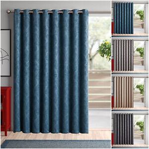 Solo-Panel-Puerta-Cortinas-color-negro-apagon-termica-Anillo-con-ojales-cortinas-de-66-034-X-84-034