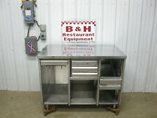 48 X 30 Stainless Steel Heavy Duty Kitchen Cabinet Work Prep Table
