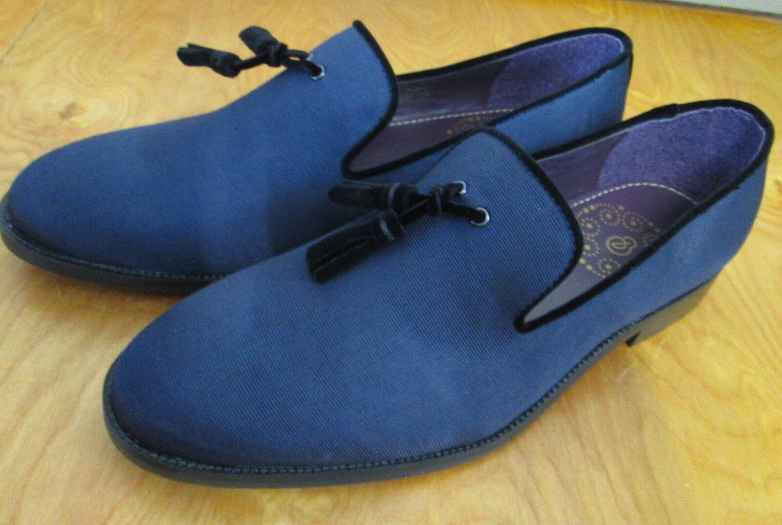 Burton Menswear Navy Fabric Loafers BNIB Eur 42  UK 8