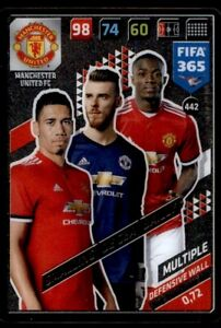 Panini 365 ADRENALYN XL 2018-Smalling//De Gea//Bailly Man Utd defensiva Pared #442