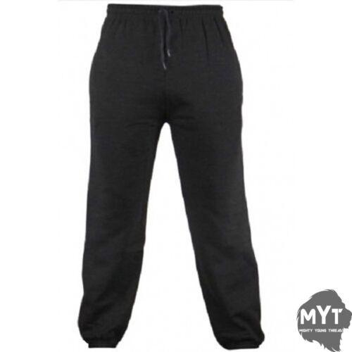 Mens Plain Fleece Joggers Zip Up Pockets Elasticated Jogging Bottoms Sweatpants