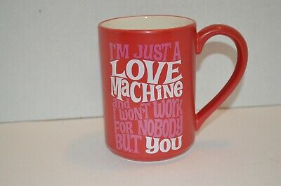 Im Just A Love Machine Coffee Cup Celebrating 50 Years Of Motown Series Red Ebay