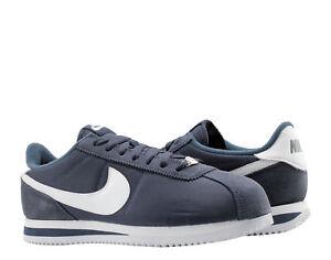 online retailer e784e 7464f Image is loading Nike-Cortez-Basic-Nylon-Obsidian-White-Men-039-