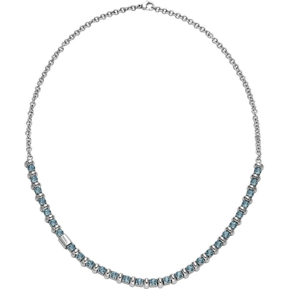 Collana women BREIL ROLLING DIAMOND TJ1571 Acciaio Swarovski Turchese NEW FIV