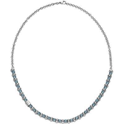 Collana Donna BREIL ROLLING DIAMOND TJ1571 Acciaio Swarovski Turchese NEW