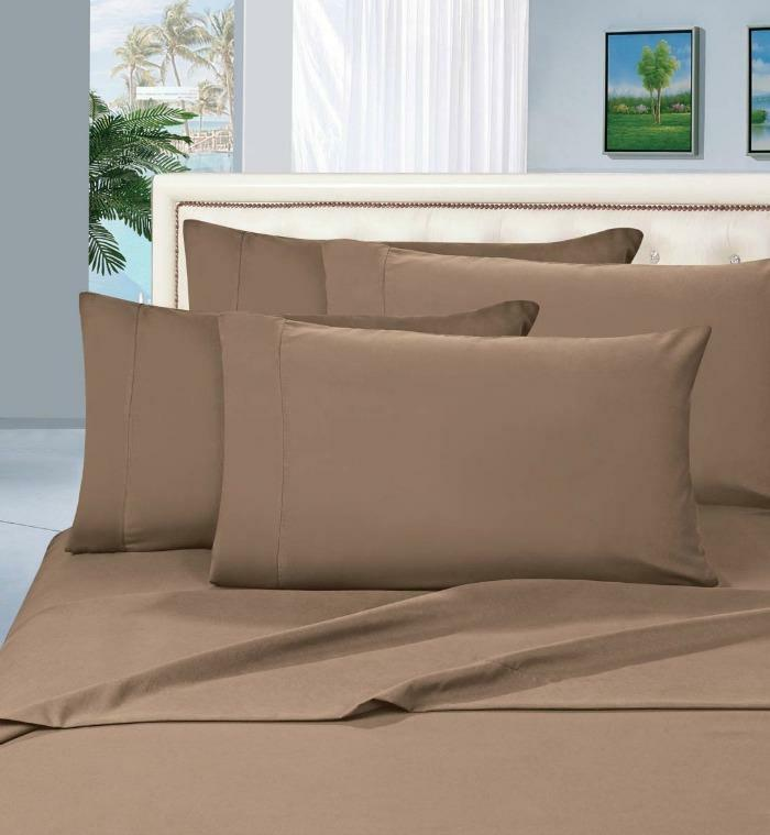 NEW Elegant Comfort 3pc 1500TC Egyptian Quality Bed Sheet Sets, Taupe, Twin XL