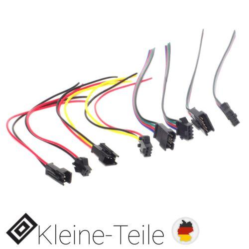 Buchse für 3528 5050 RGB LED-Licht Streifen Kabel 5 Pin 4 3 JST SM 2