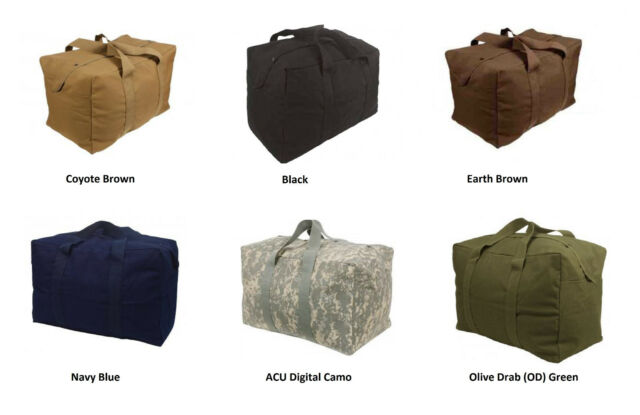b178527e88ea Military Canvas Parachute Large Cargo Bag Army Navy USMC Marines Duffle 24  X 15