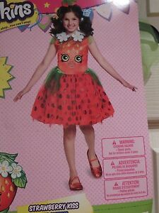 Shopkins Girls Halloween Costume STRAWBERRY KISS Tutu Dress ...