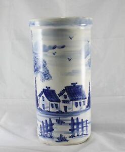 Ceramiche Bianconi Pietro.Details About Ceramiche Artistiche Bianconi Pietro Italy Hand Made Blue White Art Pottery Vase