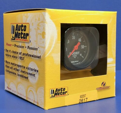 """Auto Meter Boost Gauge 2616; Z-Series Boost 0 to 35 psi 2-1//16/"""" Mechanical"""