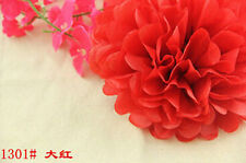5PC 15cm Tissue Paper Pom-Poms Flower Wedding Party Outdoor Decoration Red