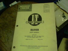 I Amp T Shop Service Oliver Shop Manual Series Super 99gmtc 950 990 995