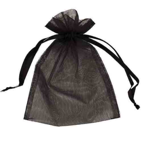 25 Organza Bags Wedding Favours Mesh Birthday Pouches Party Sweets Gift Wrapping
