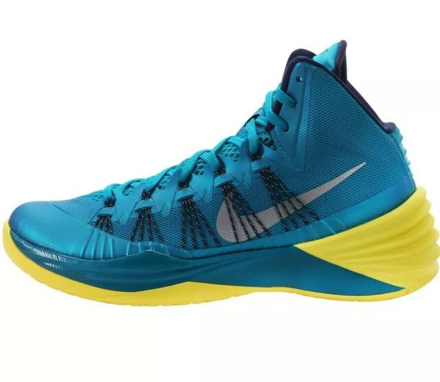 blue and yellow nike shoes