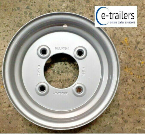 "VLUKON 10/"" Trailer Wheel Rim 3.50x10 4 Stud 5.5/"" PCD Fits 145x10 500x10 tyres"
