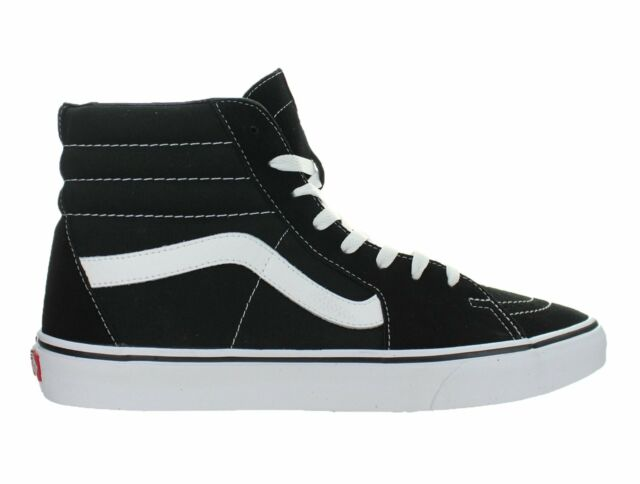 5ebe790663f2 VANS Sk8-hi Top Shoes Canvas Black White Skate Men SNEAKERS 0d5ib8c 10.5