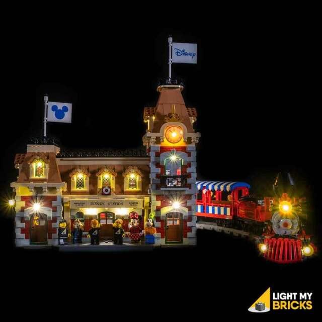 LIGHT MY BRICKS - LED Light kit for LEGO Train Station 71044 USB Powered