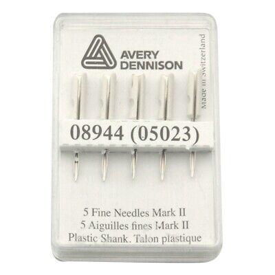 5 Tagging Gun Needles MK III MK II Mark II FINE By Avery Dennison 05023