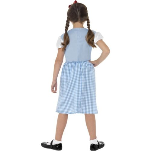 Girl/'s Country Girl Fancy Dress Costume Book Week Dorthy Wizard Of Oz Kids Party