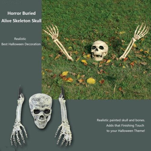 2770 Plastic Halloween Decoration Skulls Buried Alive Decor Lawn Skeleton