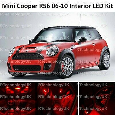 Fits Mini Cooper S JCW R56 Red LED /'Trade/' Wide Angle Side Light Beam Bulbs Pair