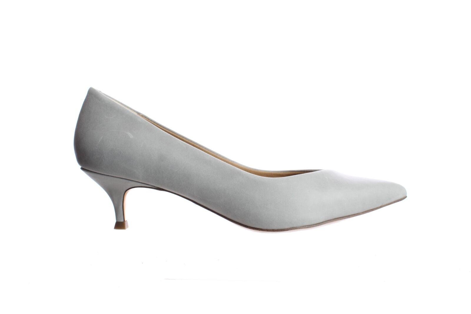 Vionic Womens Kit Josie Light Grey Leather Pumps Size 8.5 (2161965)
