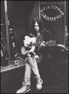 Franc Neil Young Greatest Hits Strum & Sing Guitar Chord Répertoire-afficher Le Titre D'origine Prix Fou