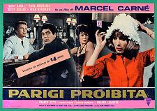 T63 FOTOBUSTA  PARIGI PROIBITA MARCEL CARNE' DANY SAVAL PAUL MAURISSE DELAIR 11
