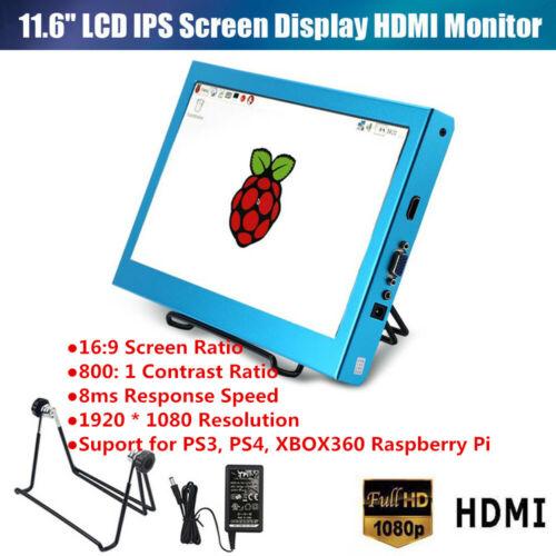 "11.6/"" HDMI//VGA Full HD 1092*1080 LCD Display Screen For Raspberry Pi 1//2//3//B LJ"