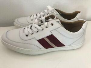 BALLY Oriano White Leather Sneakers